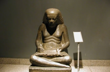 Sculpture of a scribe