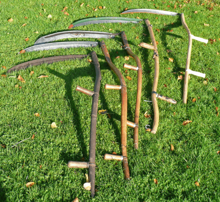collection of scythes