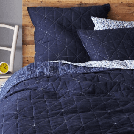 blue coverlet