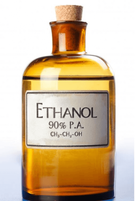 bottle of 90% ethanol