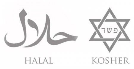 Halal and kosher logos