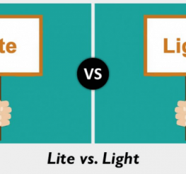 Difference between Lite and Light