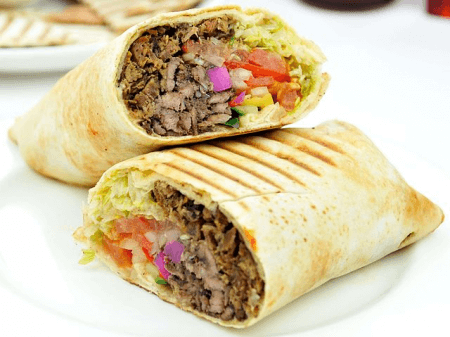 Shawarma in a wrap