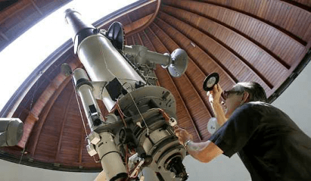 astronomer at work
