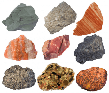 collection of sedimentary rocks