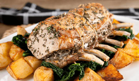 rosemary and garlic pork roast