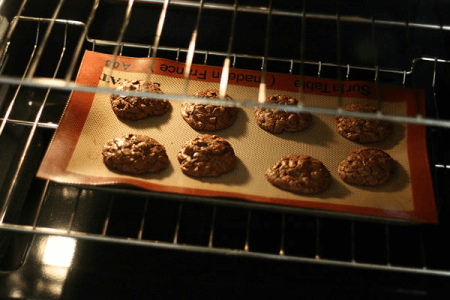 Cookies being baked