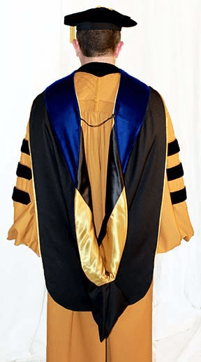 PhD graduation cap and gown