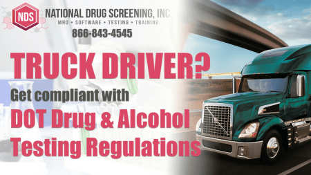 ad for a DOT drug and alcohol testing program