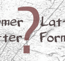 Difference between Former and Latter
