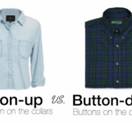 Difference between Button-up and Button-down Shirts