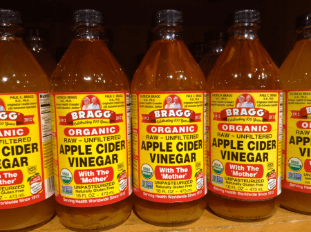 Bottles of Apple Cider Vinegar