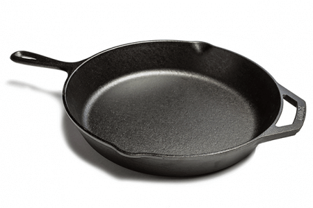 A cast iron pan