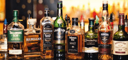 Different brands of whiskey