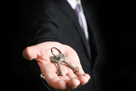 Man holding keys
