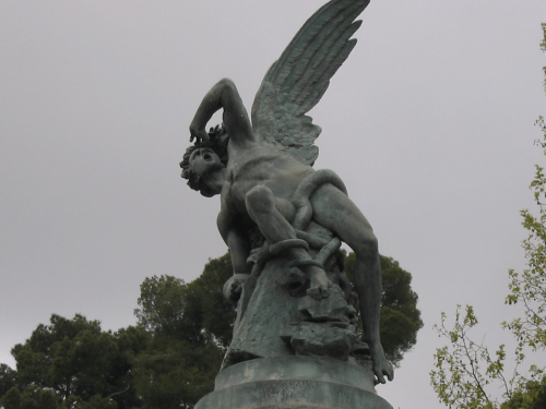 statue of a fallen angel