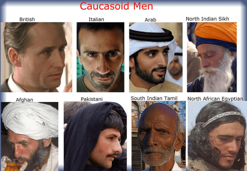 types of Caucasian men