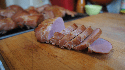 Sliced Canadian bacon