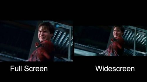 difference between widescreen and full screen