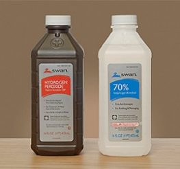 Difference Between Hydrogen Peroxide and Rubbing Alcohol